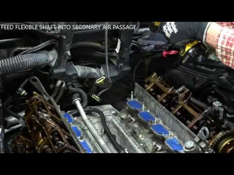 BMW N62 Secondary Air Passage cleaning with AGA tool