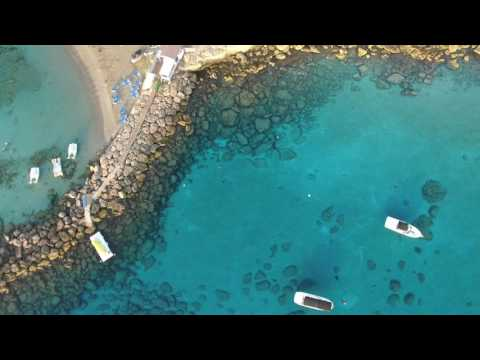 Protaras/Cyprus/Summer/Sunrise from above/Drone