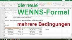 ► Excel WENNS Funktion - Excel Wenn Dann Funktion verschachtelt [mehrere Bedingungen, 2019, 365]