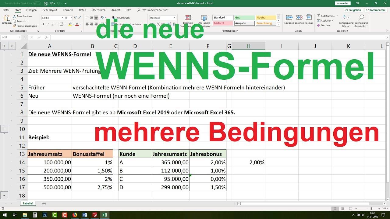 Mehrere Wenn Funktionen Excel
