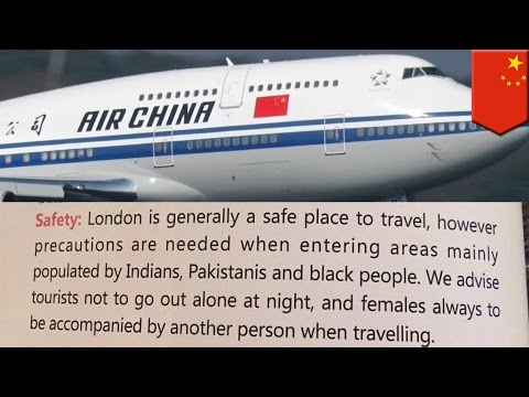 Racist Chinese: Air China called out for warning against ethnic London neighborhoods - TomoNews
