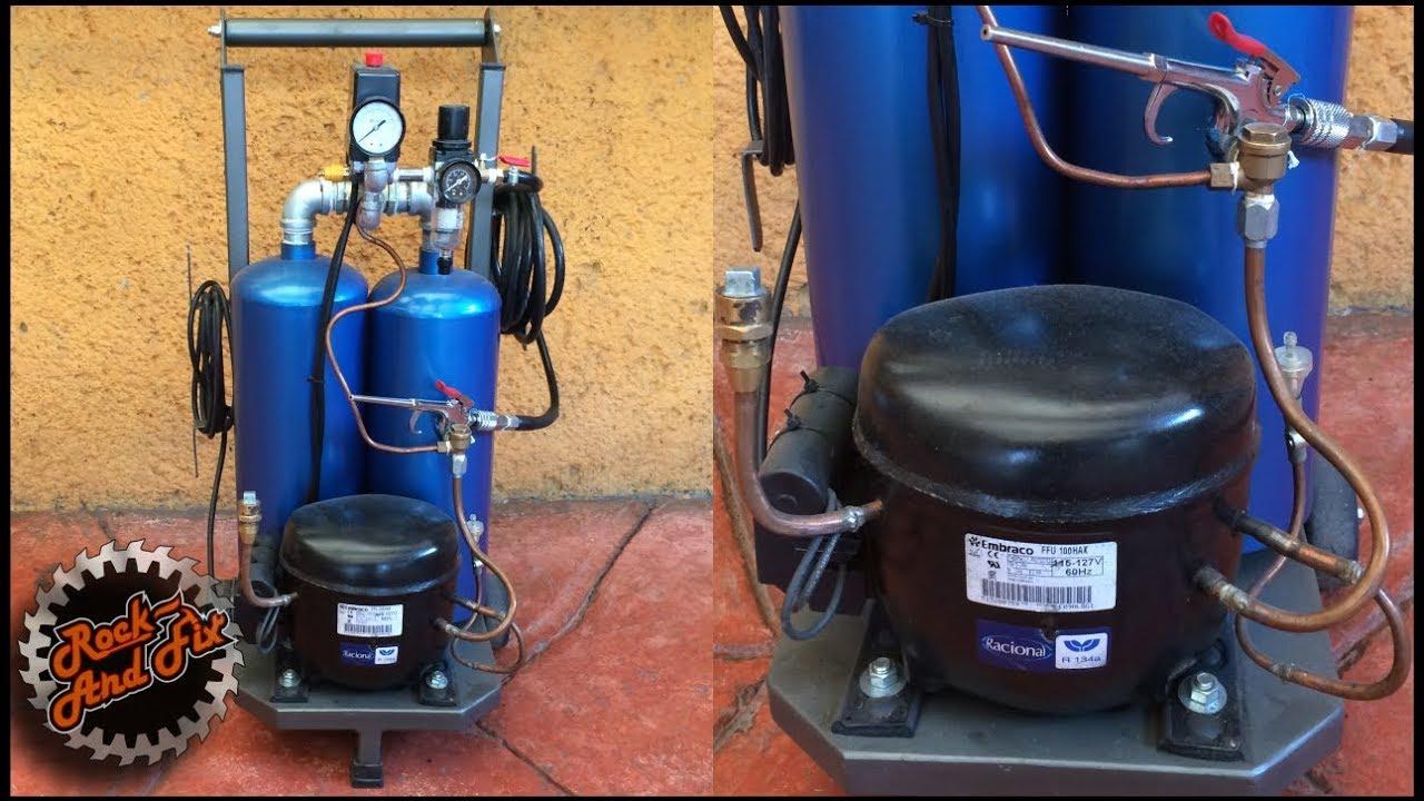 Como hacer un compresor de aire silencioso silent air for Compresor de aire silencioso