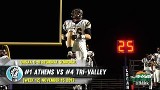 HS Football: Tri-Valley vs Athens [PLAYOFFS] (11/15/13)