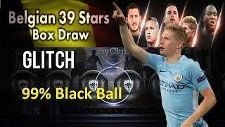 Black Ball Trick in  Belgian 39 Stars Box Draw, 99% Black Ball from Belgian - Pes 2018