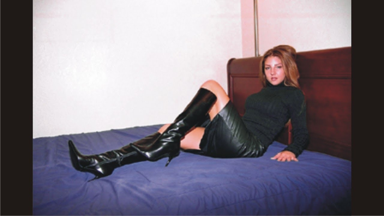 6af8dbc034 Graceful Black Leather Skirt And Boots - YouTube