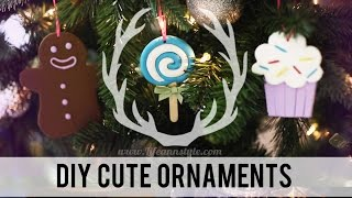 DIY Cute Polymer Clay Christmas Ornaments | ANNEORSHINE Thumbnail