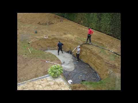 The making of a Japanese koi pond and Zen garden