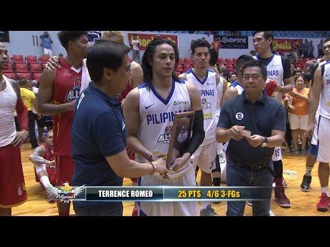 Visayas All-Star vs. Gilas Pilipinas MVP: Terrence Romeo   PBA All-Star 2017