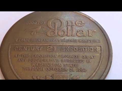 1962 Century 21 Exposition One Dollar Token Coin