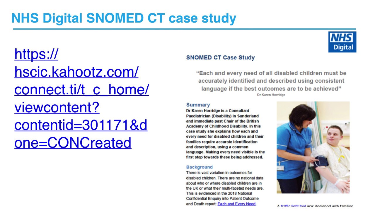 SNOMED-CT - Best practice videos | RCPCH