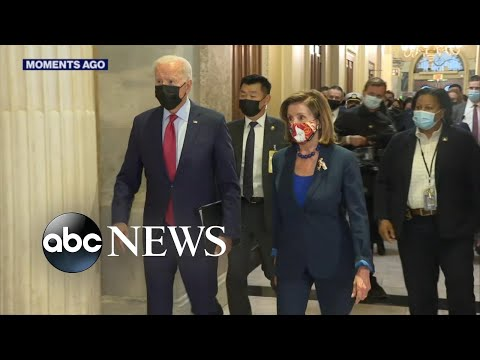 Biden visits Capitol Hill to meet with House Democrats