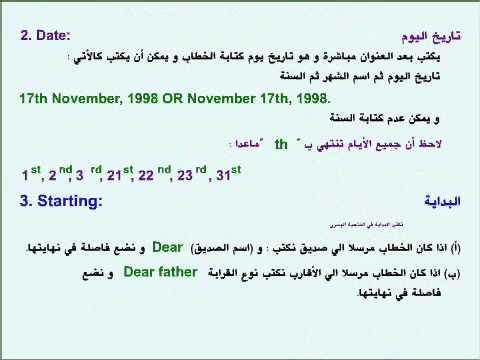 Writing Letters In English كتابة الخطابات Youtube