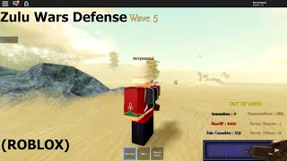 Zulu Wars Defense Gameplay (Playing as a British soldier) (Roblox)