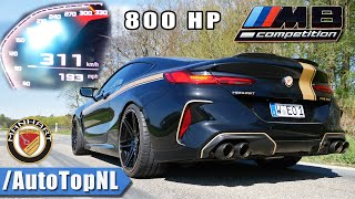 BMW M8 Competition 823HP MANHART 0-311km/h ACCELERATION & TOP SPEED by AutoTopNL