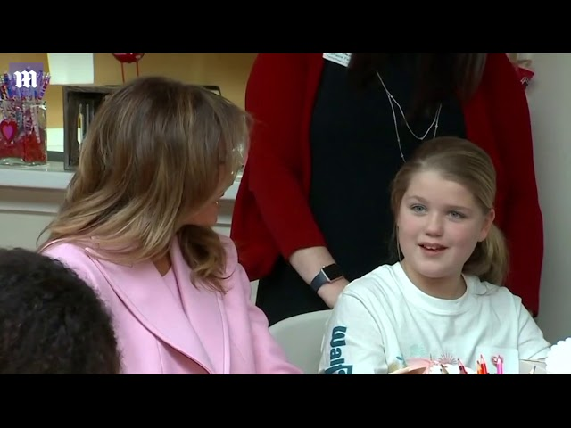 First Lady Melania spends Valentines Day with sick children