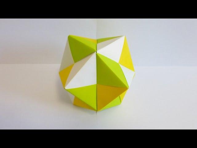ハート 折り紙:折り紙 24面体-youtube.com