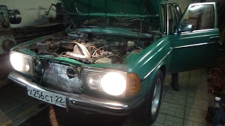 Мерседес 123 3 л дизель ,замер компрессии .