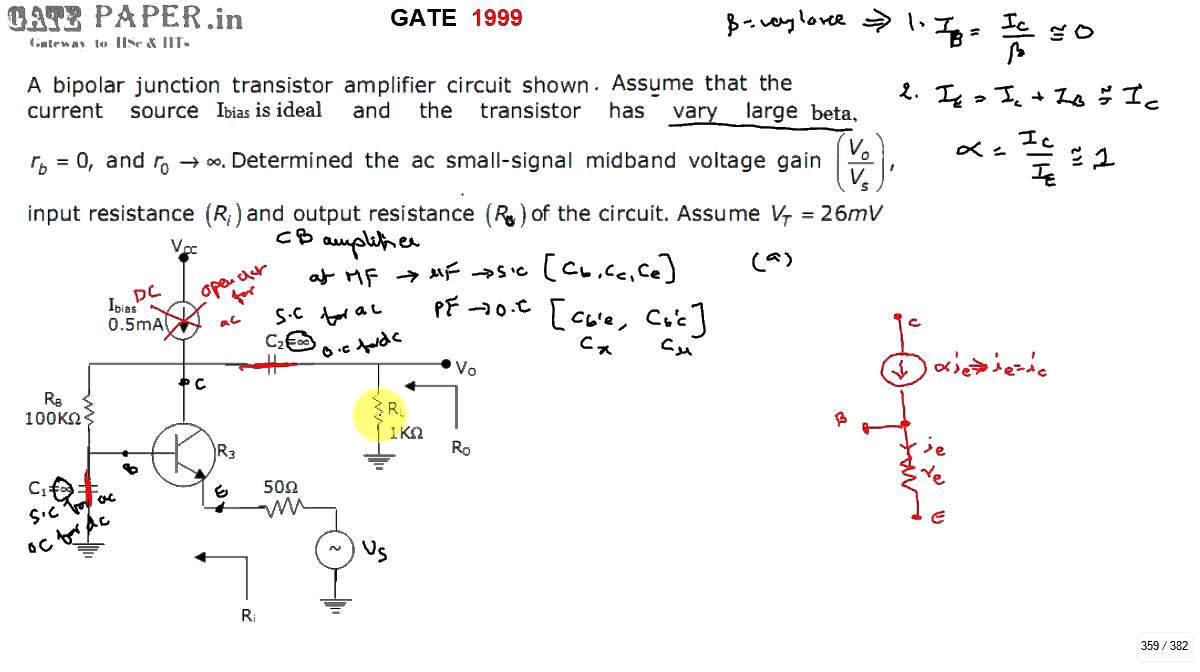 Common Emitter Amplifier Circuits Circuit Wiring And Diagram Hub Electronics Gate 1999 Ece Voltage Gain Input Output Impedance Of Analysis
