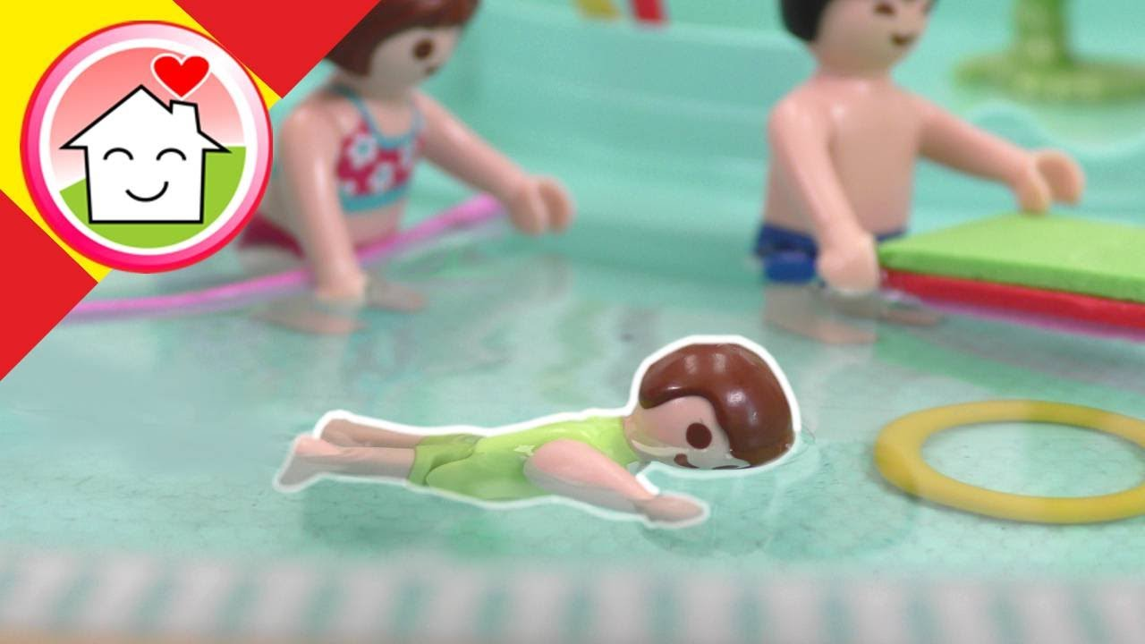 Playmobil en español Anna hace un curso de natación - La familia Hauser
