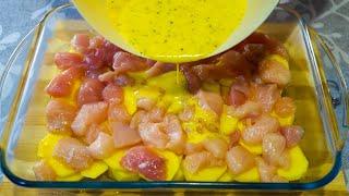 У ВАС ЕСТЬ 1 КУРИНОЕ ФИЛЕ Тогда приготовьте этот невероятно вкусный ужин в духовке