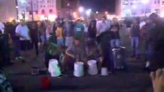 Detroit Street Drummers after the Kid Rock Concert