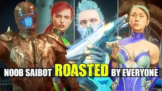 Who Roasts & Insults Noob Saibot the Best? (Relationship Clan Banter Intro Dialogues) MK 11