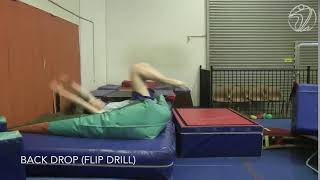 Back Drop Flip Drill (Testing skill)