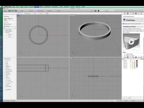 A simple band ring using Rhino 3d for mac