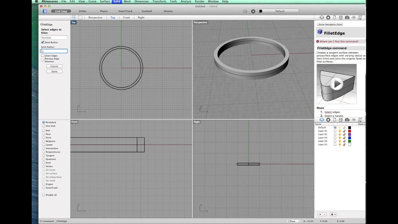 A simple band ring using rhino 3d for mac youtube for 3d room design mac