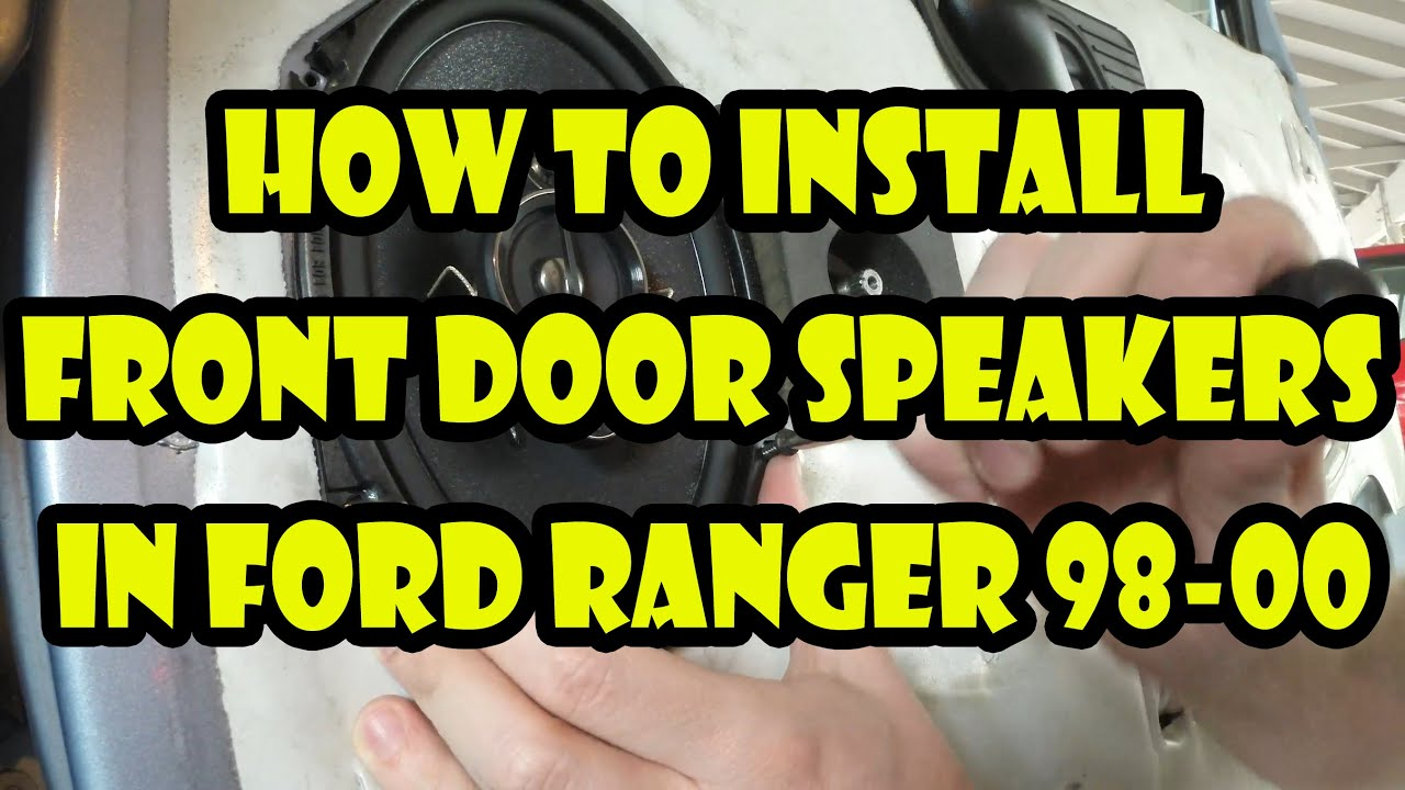 2000 Ford Ranger Speaker Size Mustang How To Install Or Replace Front Door Speakers 98 00