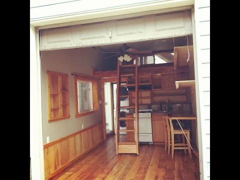 Tour TravisTutorials Tiny House Built in a Garage YouTube