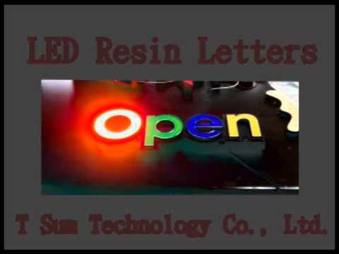 LED Resin Letters & Signs