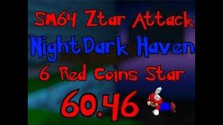 SM64 ZA - NightDark Haven's 6 Red Coins Star 60.46 [TAS]