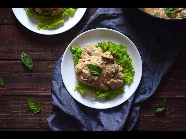 Creamy Butter Garlic Chicken With Mushroom | Chicken Recipes | Slurrp