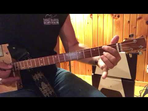 Stormy Monday Blues Lesson For 3 String Cigar Box Guitars