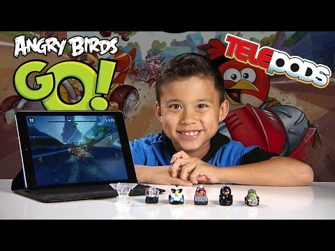ANGRY BIRDS GO! Gameplay &  Exclusive Deluxe Kart Pack Telepods