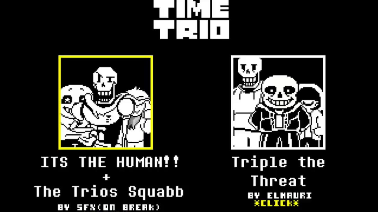 Bad Time Trio - VS  Papyrus, Sans & Asriel (Easy Mode)
