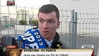 O adepto do Futebol Clube do Porto em Lisboa...