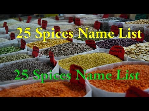 25 Spices Name List