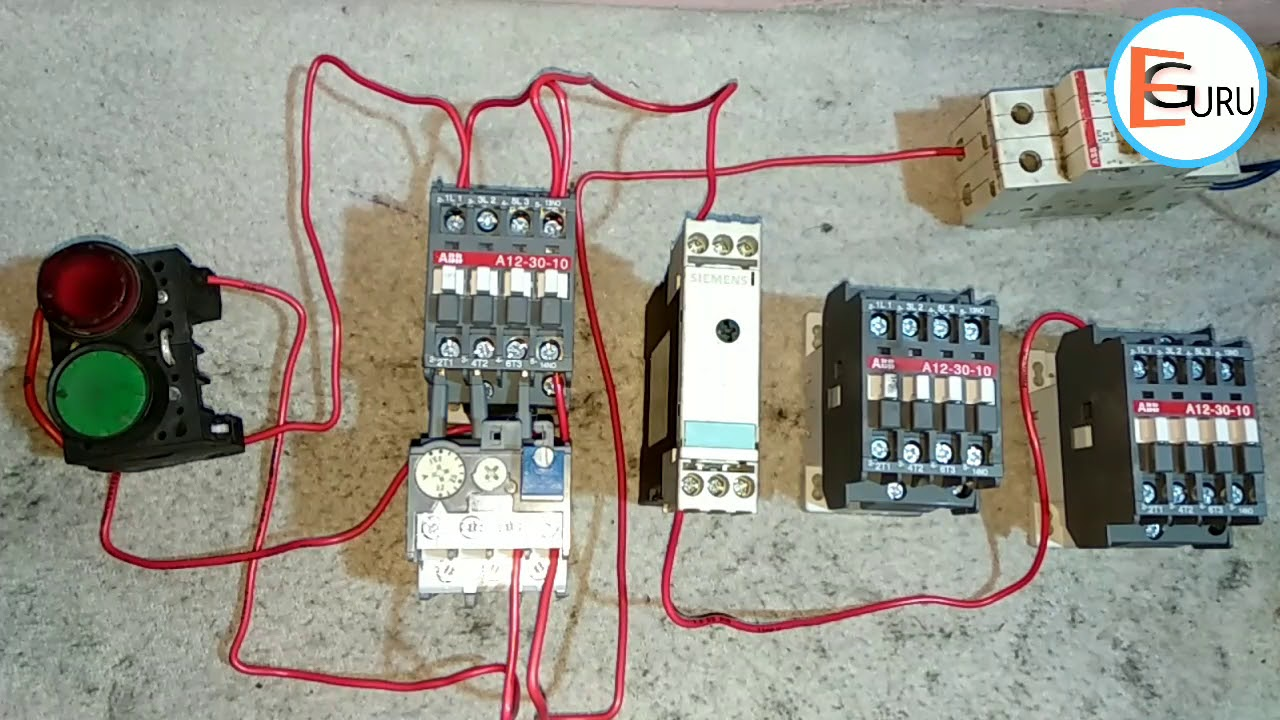 Star Delta Starter Control Circuit In Hindi Electric Guru Youtube Wiring Diagram With Explanation