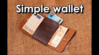 Making a simple leather wallet