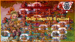 Lords Mobile || HaH Rally trap VS 6 rallies!