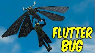 Fortnite New glider gameplay. FLUTTER BUG - MOTH GLIDER,LAMP PICKAXE
