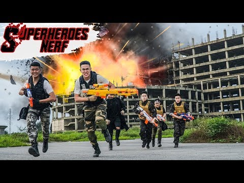 Superheroes Nerf: Couple SEAL X Warriors Nerf Gun Fight Crime Group The Battle Plan Gets Black Code