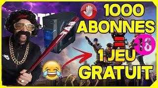 22EME LIVE FORTNITE TIRAGE DU GAGNANT + J'OFFRE 1 JEU PS4/XBOX OU PC A 2000 ABONNES