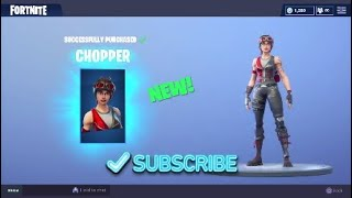 *NEW* CHOPPER SKIN GAMEPLAY! + 2800 VBUCKS GIVEAWAY! (FORTNITE BATTLE ROYALE)