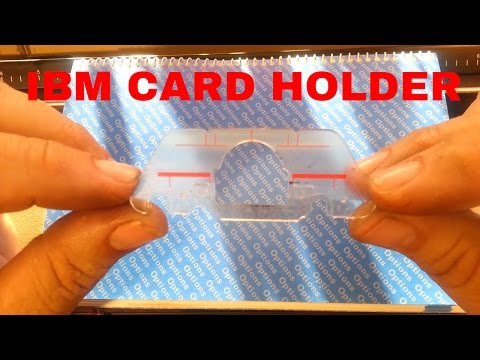 IBM Selectric Typewriter Clear Card Guide Holder Installation Replacement Demo Tutorial II III 2 3