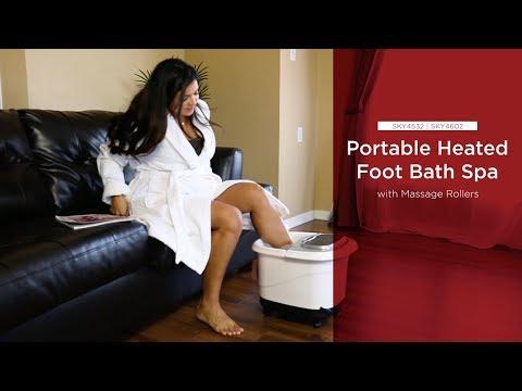 SKY4532 SKY4602 Portable Heated Foot Bath Spa w/ Massage Rollers