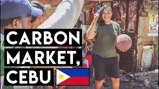 TOURISTS Play B-ball at Carbon Market - LARGEST Market in Cebu || The Philippines
