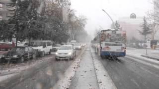 Ankara'da kar yağışı